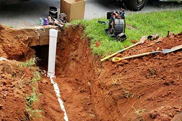 Sewer line replacement in Dallas GA.